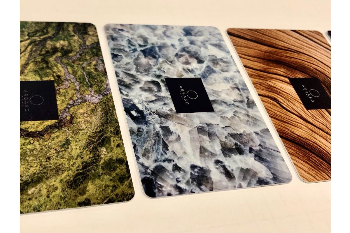 grupo delta imprime distintas texturas de la naturaleza para el hotel arbaso