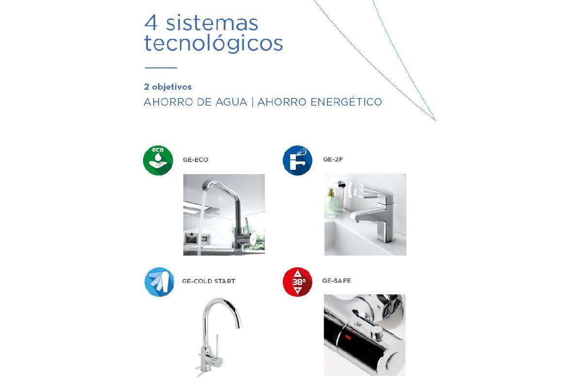cuatro sistemas tecnolgicos sostenibles a favor del ahorro de agua y de energa por genebre