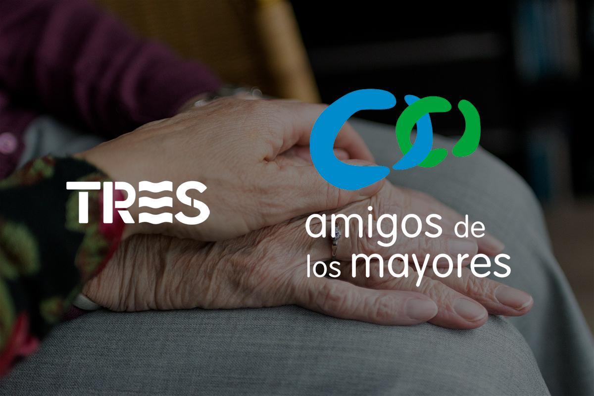 tres y emamigos de los mayoresem juntos contra el aislamiento social