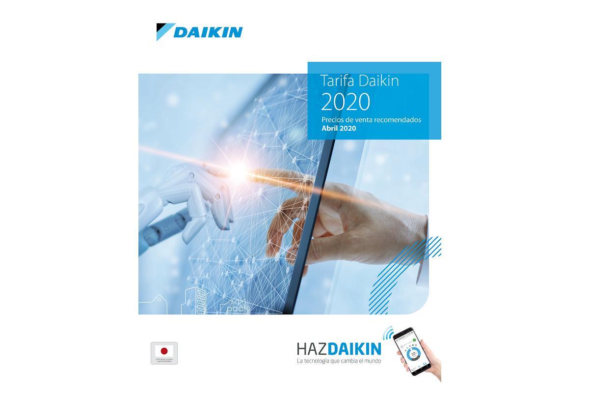 nueva tarifa de precios para 2020 de daikin
