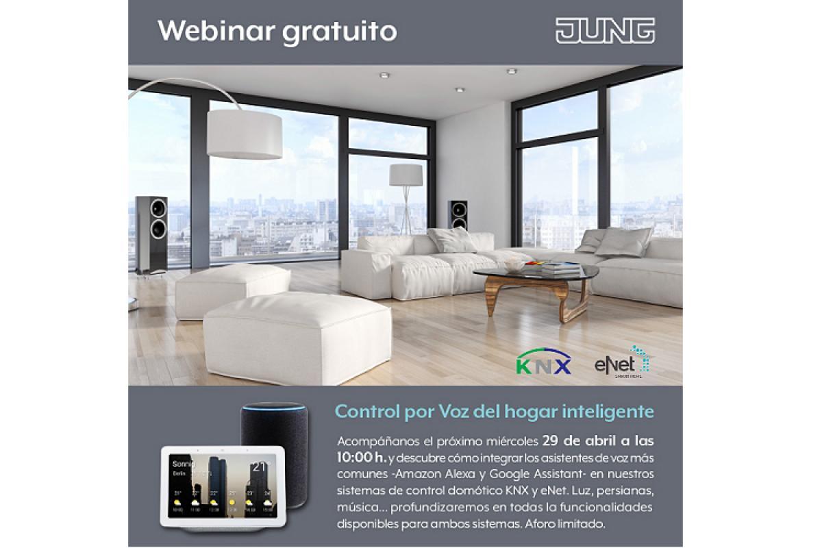 nuevo webinar de jung control por voz del hogar inteligente este mircoles 29 de abril