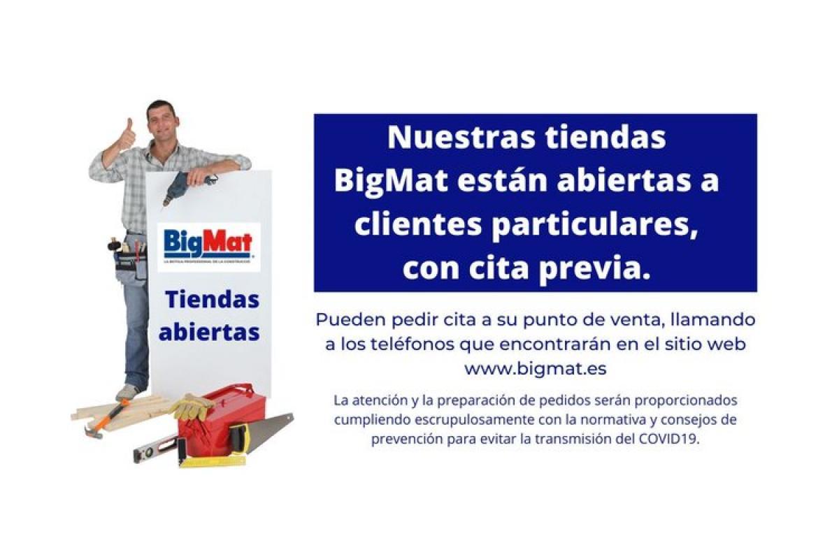 bigmat atiende a sus clientes con cita previa