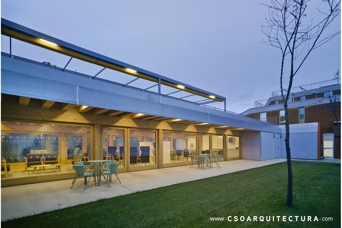 una residencia de ancianos passivhaus con estructura de arquima finalista en premios fad