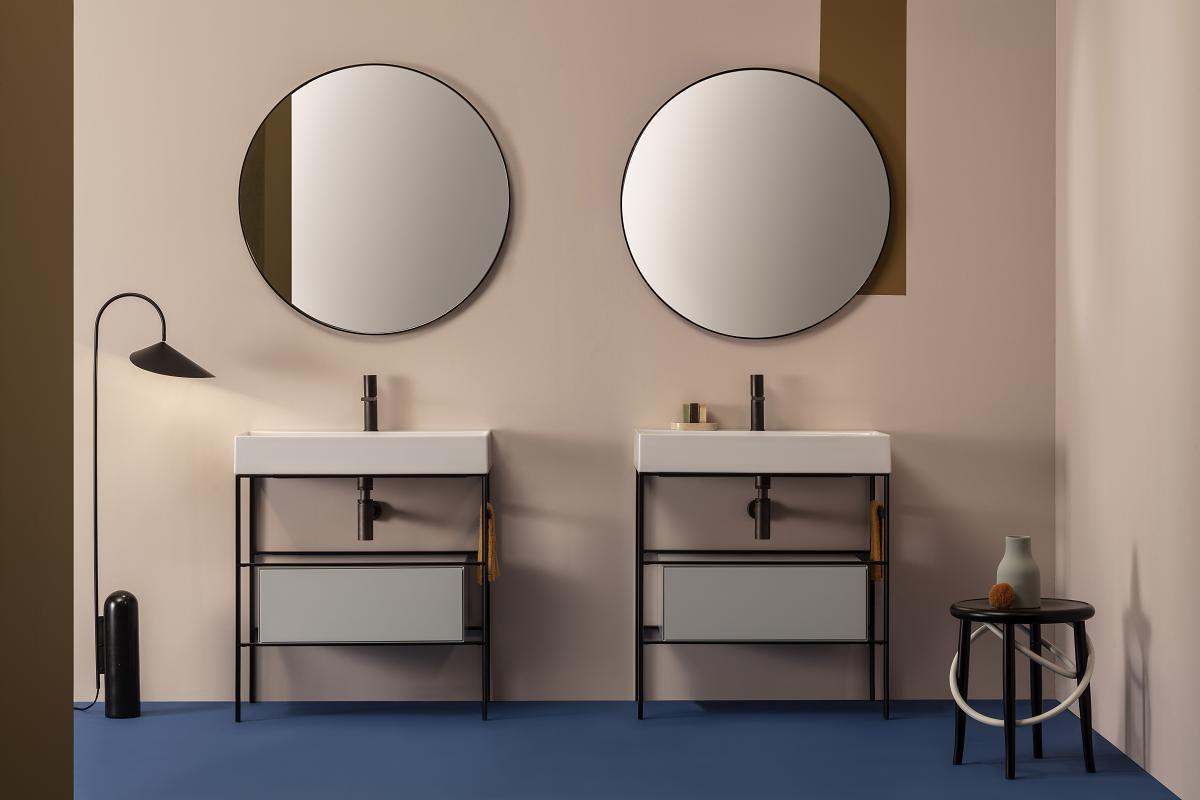 ceramica globo presenta stripe y stripe lavabos compactos y lineales