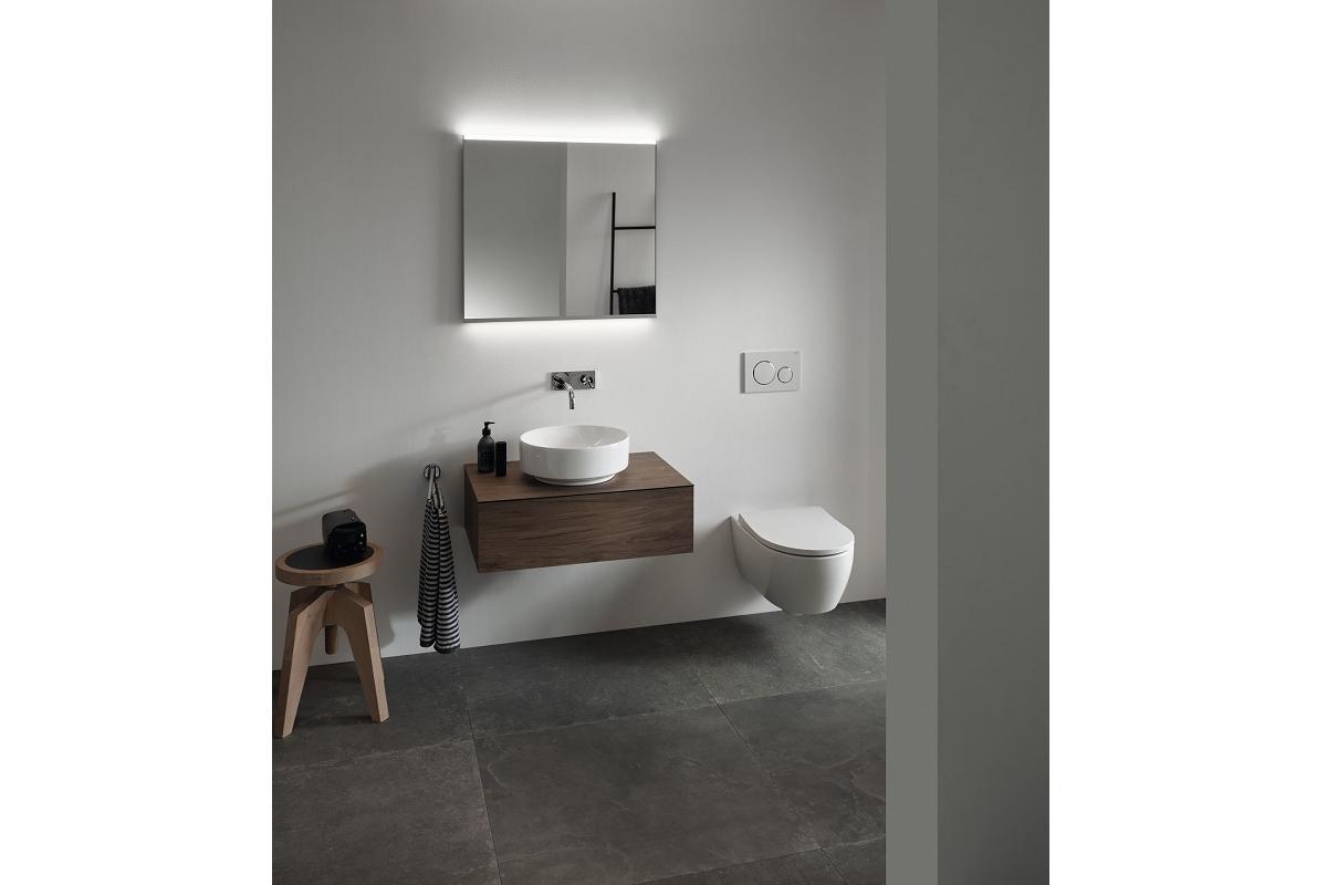 la elegancia minimalista y el gusto por el almacenaje presentes en geberit variform