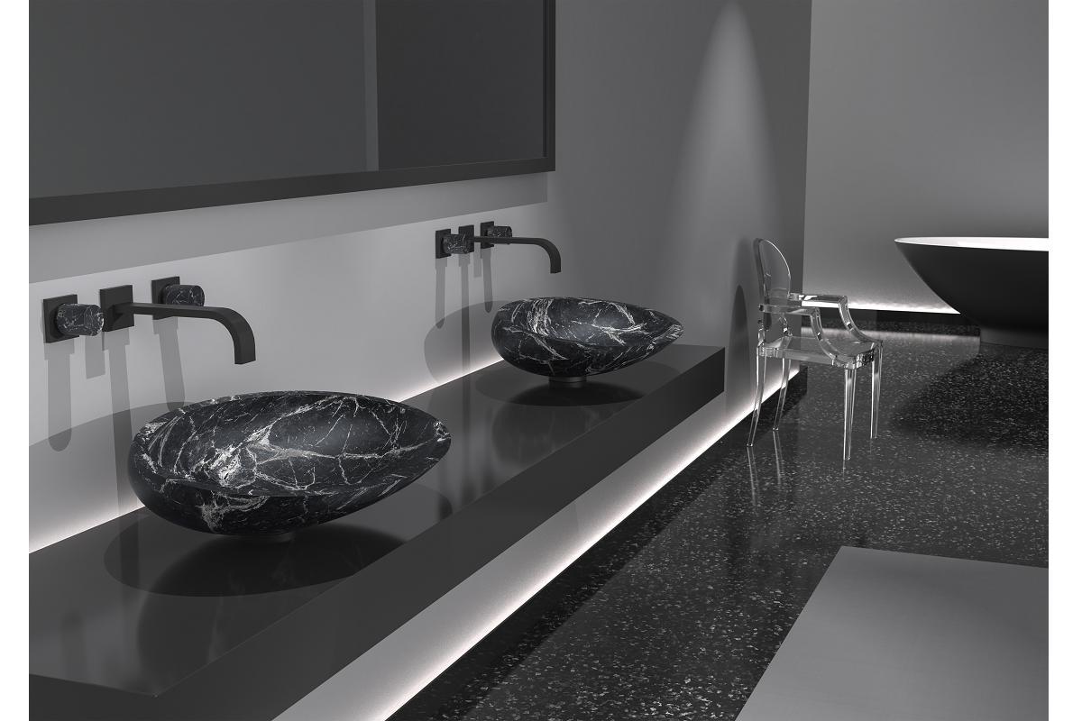 glass design da la bienvenida al mrmol con sus nuevos lavabos