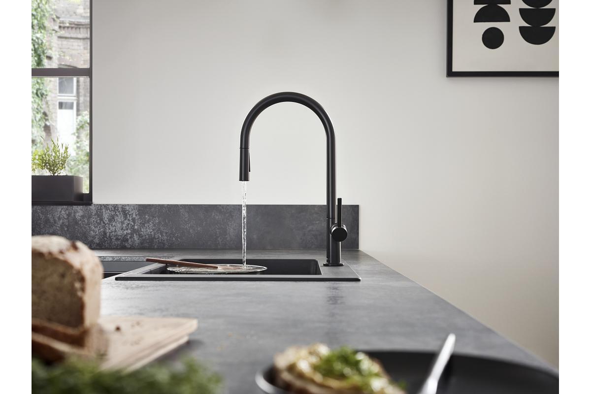 grifera talis m54 de hansgrohe minimalismo funcionalidad y versatilidad