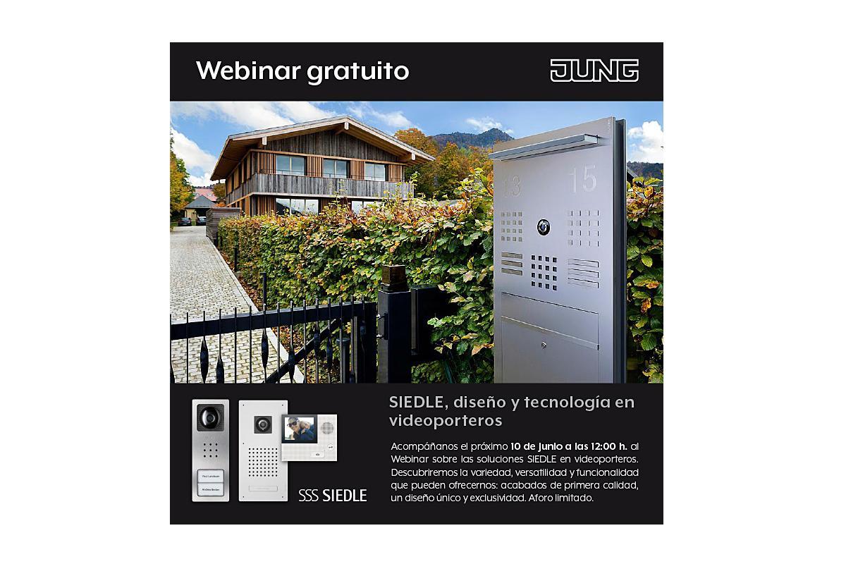 jung anuncia su nuevo webinar siedle diseo y tecnologa en videoporteros