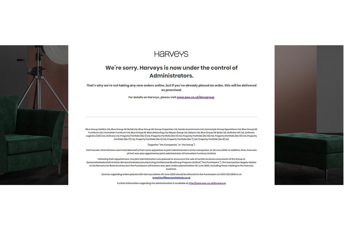 harveys se declara insolvente