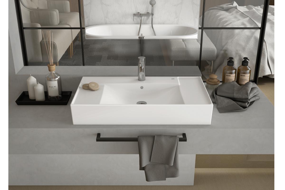 Gala suma nuevos lavabos de sobre-encimera e instalación mural a su colección Albus