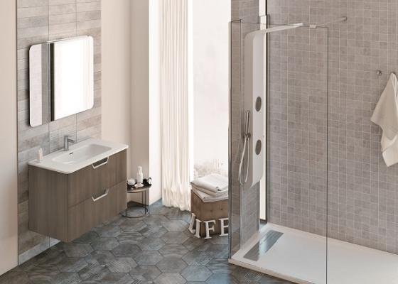 Acabados naturales y lavabos m s profundos en la colecci n for Acabados para banos