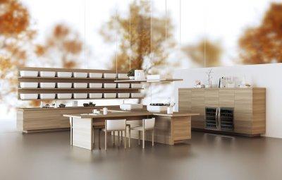 ambiente elegante y minimalista en la nueva coleccin diseada por ki nendo para scavolini
