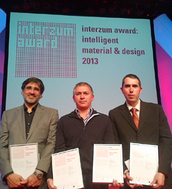 indaux premiada con dos interzum awards 2013
