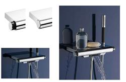 columna de ducha aparu y  nueva gama de termostticas de jacob delafon