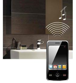 villeroy  boch crea un sistema de sonido integrado en el espejo