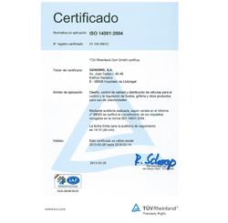 genebre consigue la certificacin iso 14001