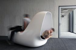 himacs presenta sleepbox en swissbau 2012