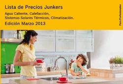 nueva tarifa junkers edicin marzo 2013 con novedades de producto