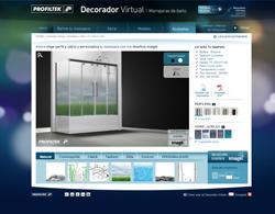 profiltek lanza un innovador decorador virtual para el sector del bao