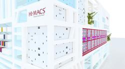 himacs debuta como material para fachadas en bau 2013