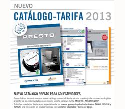 nuevo catlogotarifa 2013 presto ibrica para colectividades