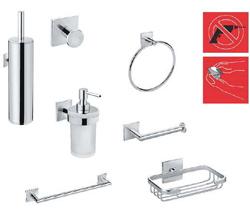 Accesorios de ba o adhesivos materiales de construcci n for Accesorios ducha sin taladro