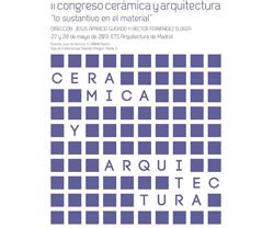 i congreso de cermica y arquitectura en madrid