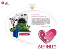affinity de lg ayuda a encontrar la lavadora perfecta