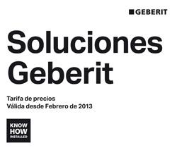 geberit presenta su nueva tarifa soluciones geberit 2013