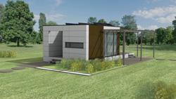 formica equipa una vivienda modular con su panel exterior vivix