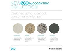 el consumidor elige los cuatro nuevos colores de la gama eco by cosentino
