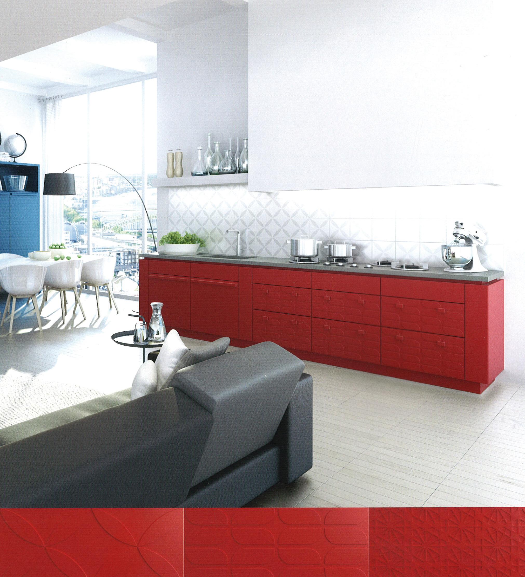 H cker sorprende con una cocina con frentes realizados en for Cocinas de cemento y ceramica
