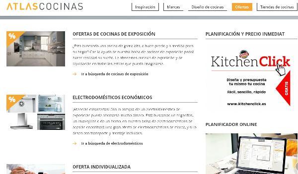 Atlas cocinas lanza su nueva imagen web for Planificador cocinas gratis
