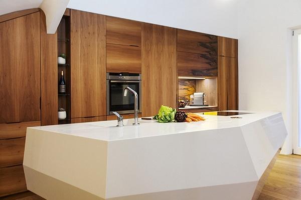 le baou la isla de cocina en forma de roca realizada en himacs