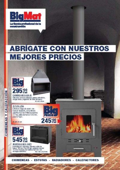 bigmat lanza su nuevo folleto de chimeneas y calefaccin