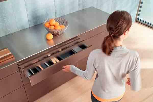 blum marca tendencia en los muebles sin tiradores