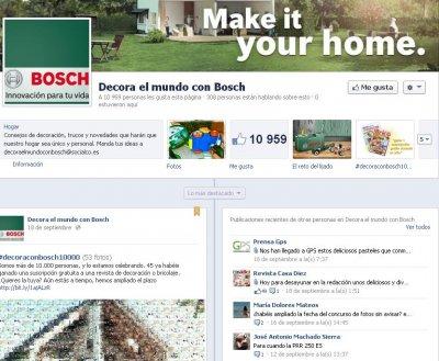 bosch bricolaje supera los 10000 fans en facebook