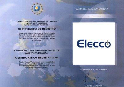 cadena elecco obtiene el certificado de registro como marca comunitaria