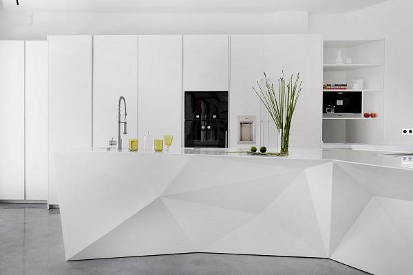la cocina se vuelve escultura con dupont corian