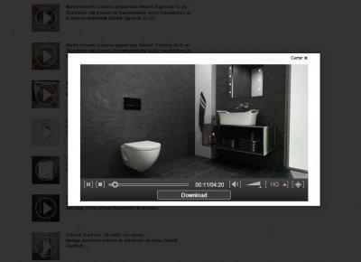 completa videoteca en la nueva web de geberit