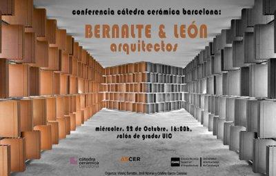 conferencia en la ctedra cermica de la esarq de los arquitectos bernalte y len