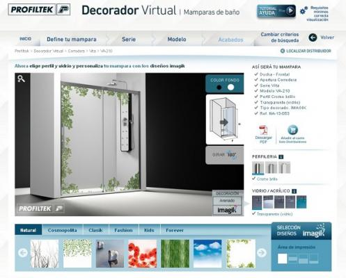 El decorador virtual de profiltek revoluciona el ba o for Decorador virtual hogar