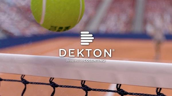 dekton by cosentino la nueva superficie del mutua madrid open