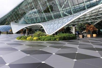 dekton by cosentino el material elegido para su aplicacin en la solera exterior del aeropuerto de bak