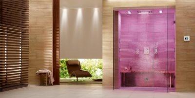 efectos luminosos msica y relajacin en una ducha de vapor con grohe spa fdigital deluxe