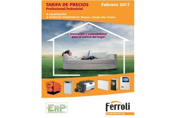ferroli lanza sus nuevas tarifas para calefaccioacuten y energiacuteas renovables