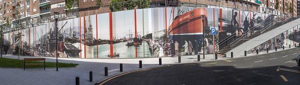 formica group colabora con estudios durero en un mural fotografico en bilbao