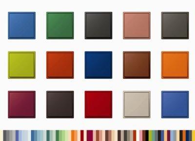 la gama de colores de le corbusier brilla en la serie ls 990 de jung