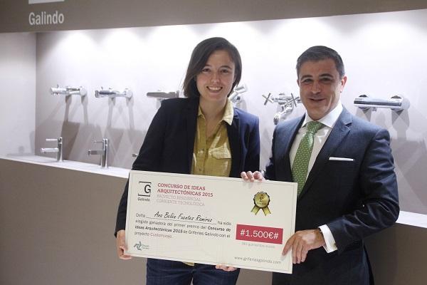 griferas galindo entrega el premio de su i concurso de ideas arquitectnicas 2015