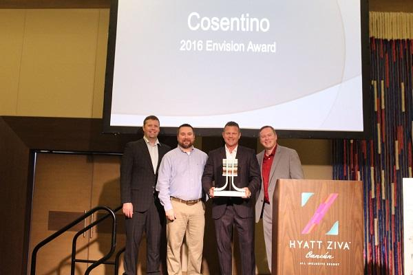 grupo cosentino premiado por la international surface fabricators association